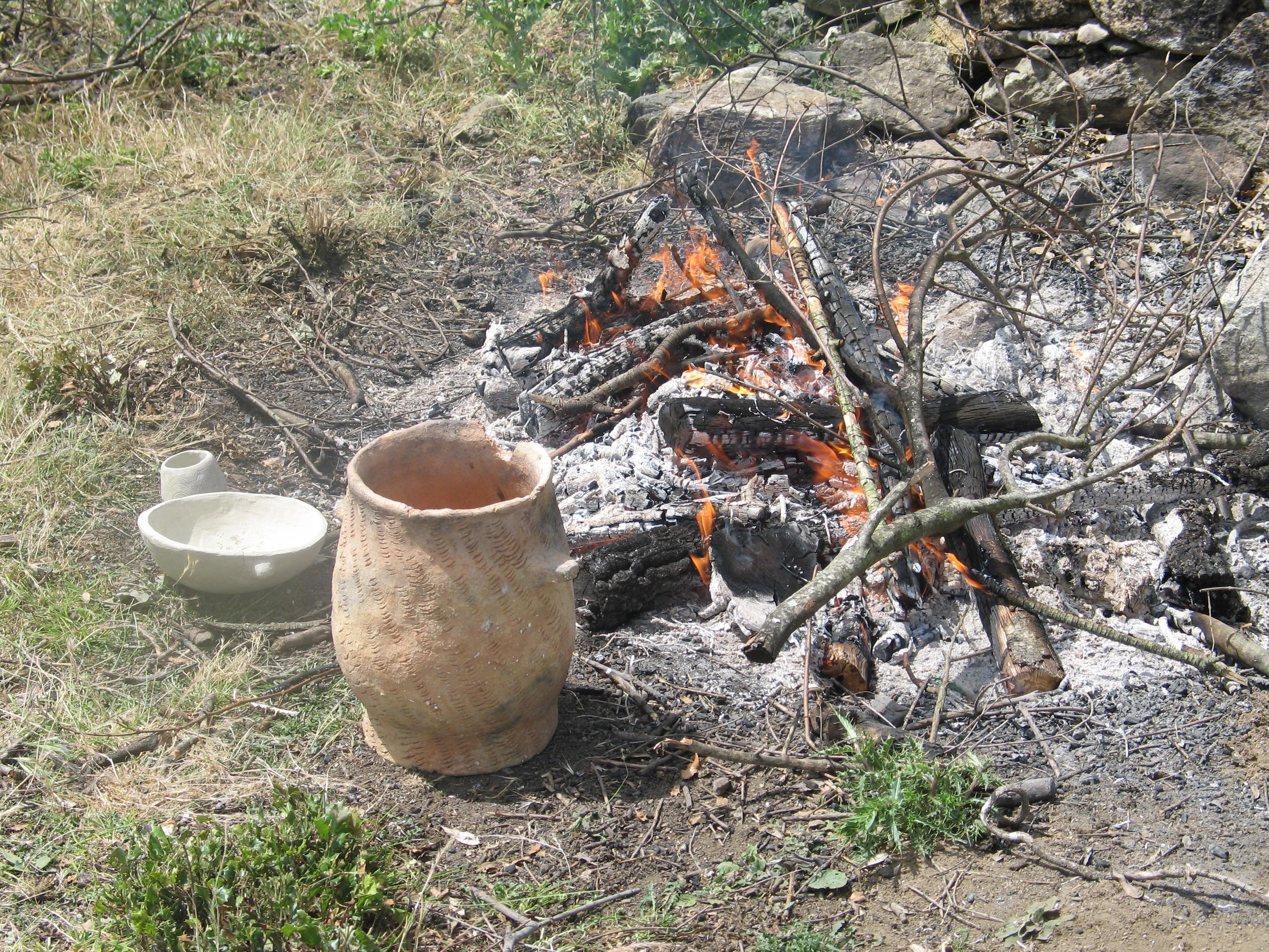la cuisson des poteries